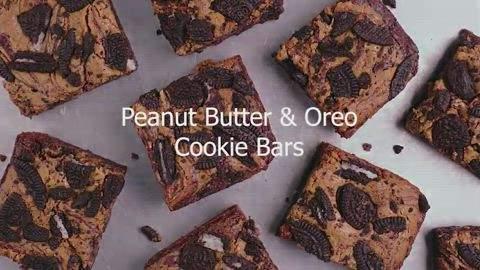 Peanut Butter & Oreo Cookie Vegan Bars