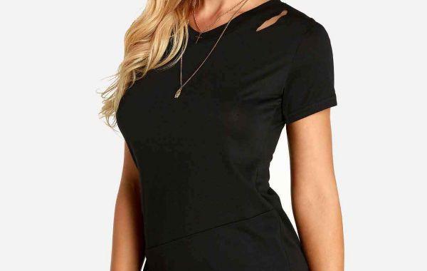 Black V-Neck Sleeveless Crossed Front Backless Lace-Up Bikinis Set