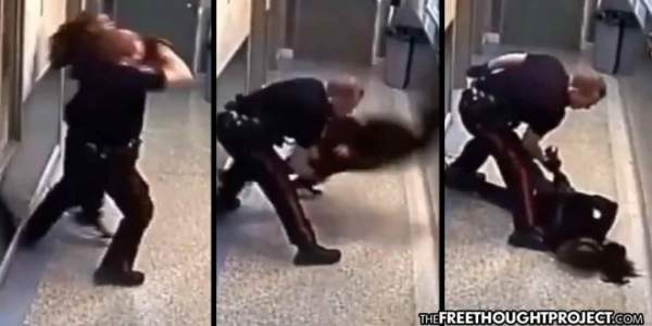Cop Smashes Handcuffed Woman's Face Into Concrete Floor Over Curfew Violation (Video) » Sons of Liberty Media
