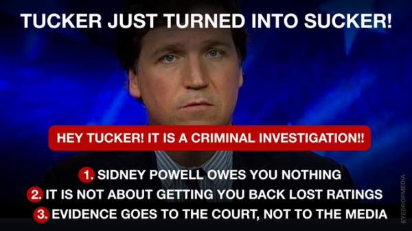 Tucker Carlson Lies About Sidney Powell And Ignores Dominion Hacking Evidence