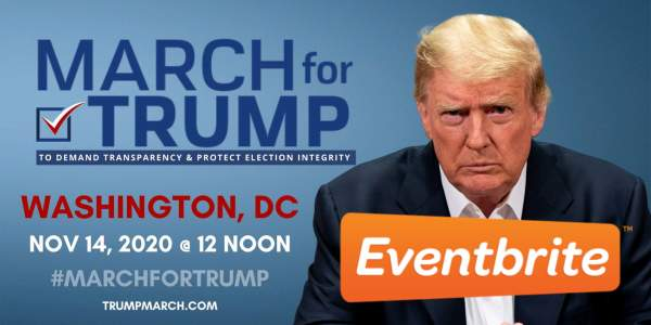 Eventbrite shuts down March for Trump page for 'potentially harmful misinformation'   The Post Millennial