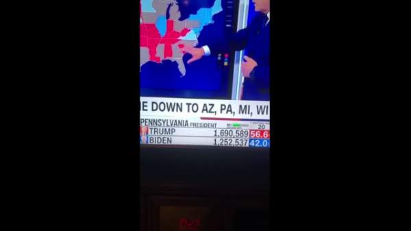 ELECTION FRAUD - Video Showing Exact Number Of Votes In Pennsylvania Moving From President Trump To Biden - EVault