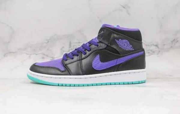 Lot of Fans Love to Cop Air Jordan 1 Mid Black Purple Shoes