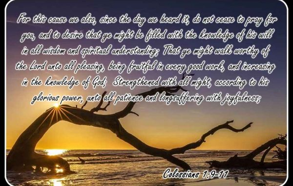 Colossians, Its All About Christ 1: Christ: My Hope - Pt. 1 Paul's Prayer