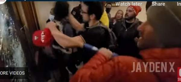 HUGE! Analysis of Video of Trump Supporter Ashli Babbitt Death in the Capitol Shows Antifa's Actions Led to Shots Being Fired (VIDEO)