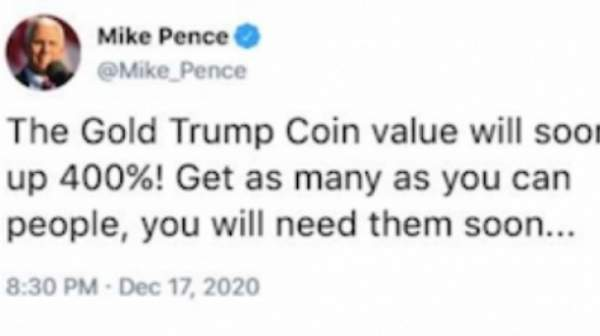 Mike Pence urges YOU to get your Trump Coins - they will be worth a LOT more soon! CLAIM YOURS NOW