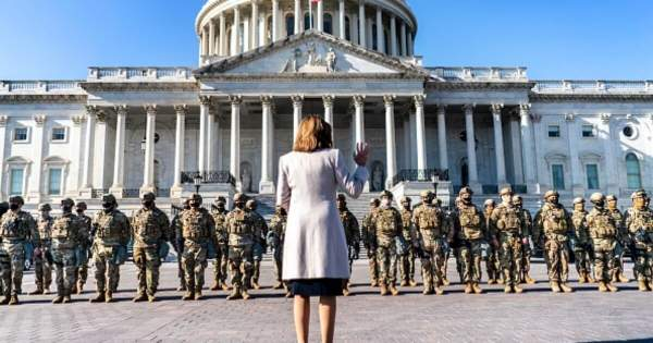 Priceless optics: Pelosi grabs photo-op with same troops she called 'stormtroopers' during BLM riots