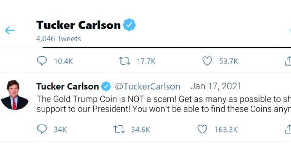 Tucker Carlson urges YOU to get your Trump Coins - You won't be able to FIND them anymore! CLAIM YOURS NOW
