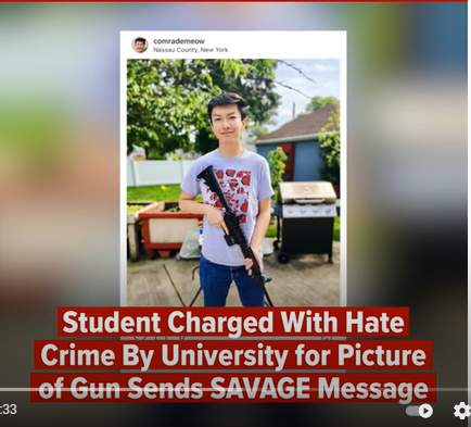 Fordham Student Charged With Hate Crime By University for Picture of Gun