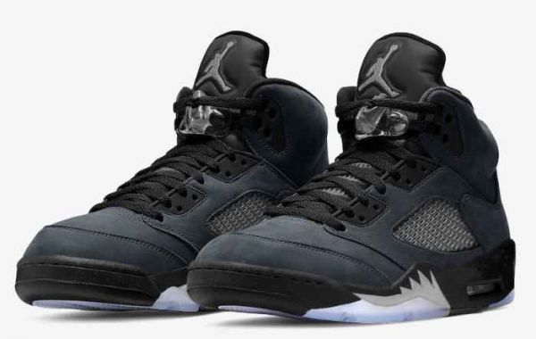 "Most Popular Air Jordan 5 ""Anthracite"" Basketball Shoes"