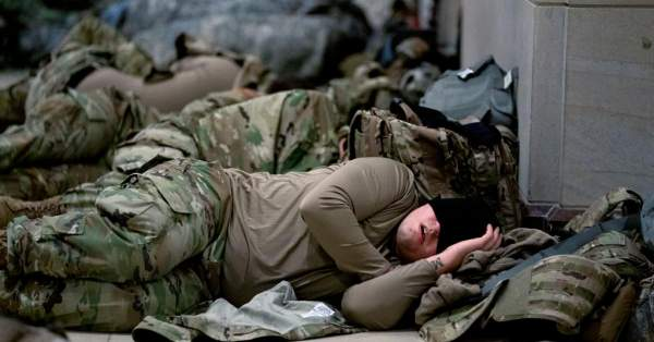 Lawmakers ask Army to provide cots for National Guard members sleeping on Capitol floor ⋆ 10ztalk viral news aggregator