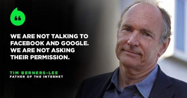 The Guy Who Built The World Wide Web Is Building A 'New Internet', Where You Control Your Data