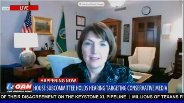 "Rep. McMorris Rodgers Slams Dems' Push For Censorship ""Sounds Like Actions From The CCP"""