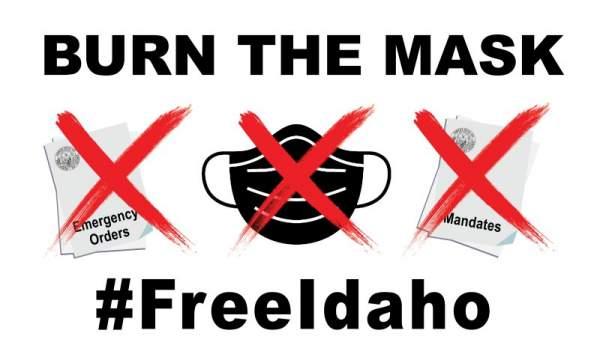 Mask Burning Rally #FreeIdaho - Redoubt News