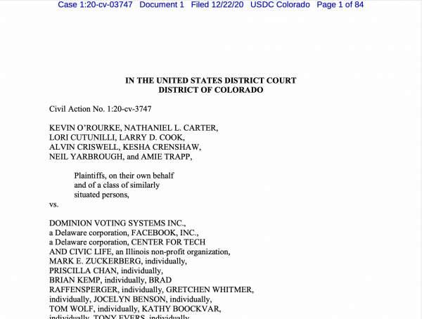 Election Lawsuit - Dominion Class Action