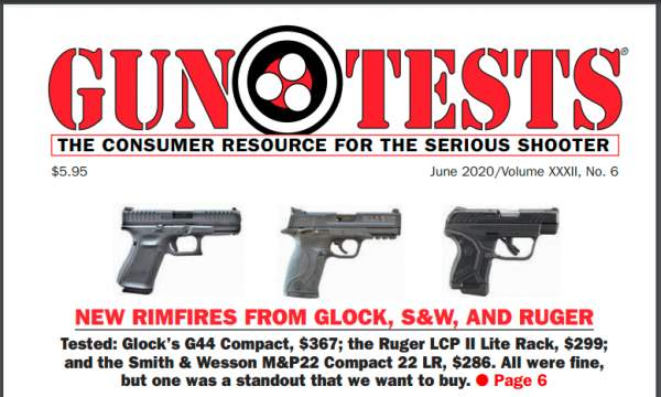 I Highly Recommend Gun Tests Magazine. The Consumer Resource for the Serious Shooter.