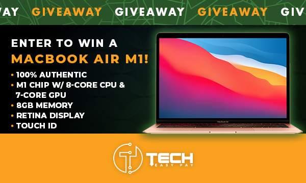 Enter To Win A 2020 Macbook Air M1 13″
