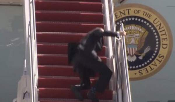 WATCH: Joe Biden Stumbles Repeatedly While Attempting to Board Air Force One — Brigitte Gabriel