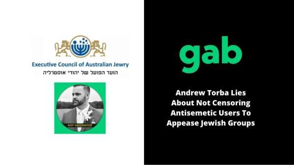 Andrew Torba Lies About Not Censoring Antisemiti … · J …