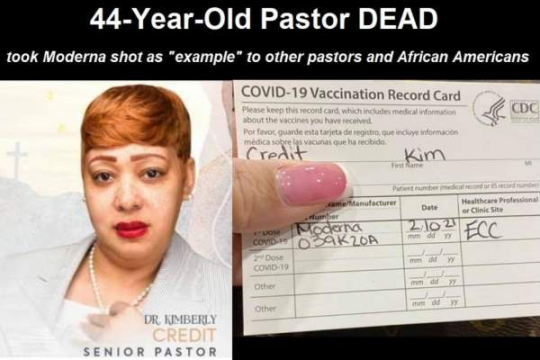 """Hal Turner Radio Show - 44 Year Old Pastor of New Jersey Church DEAD of """"Unknown Cause"""" 10 Days After COVID Vax, Second Dose"""