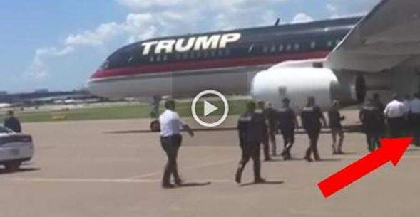 VIDEO: Cops Get Close to Trump's Plane, Get Epic Surprise They'll NEVER Forget...