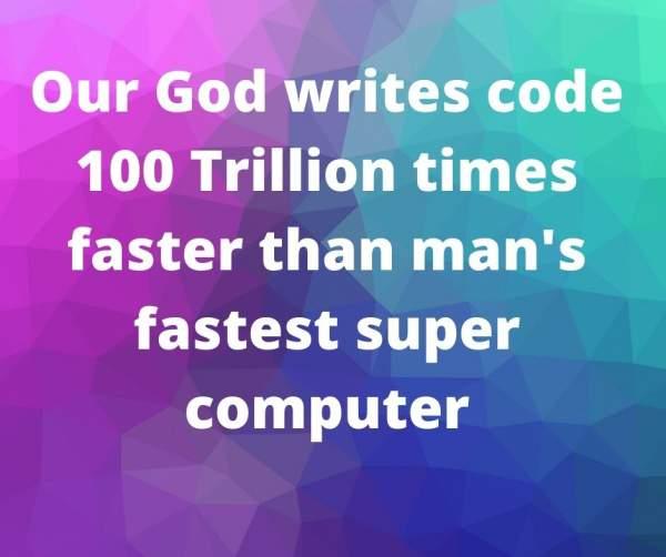 God ~ writes code –     Nike N. Chillemi ~ mystery & a merry heart