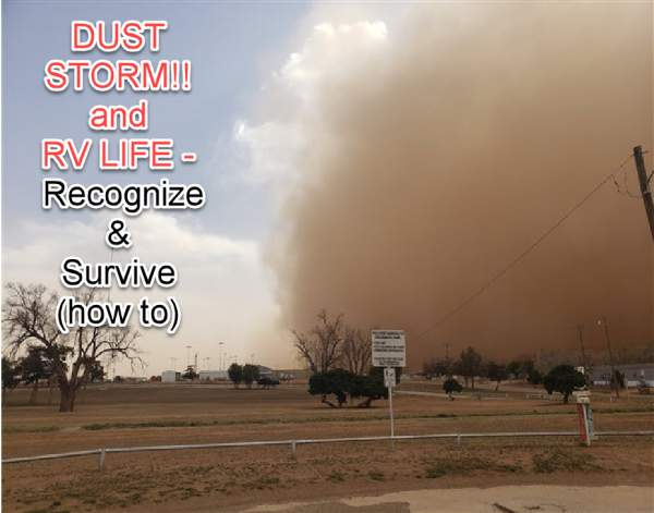 My First Experience with a DUST STORM in my RV - and - it was a NASTY one...