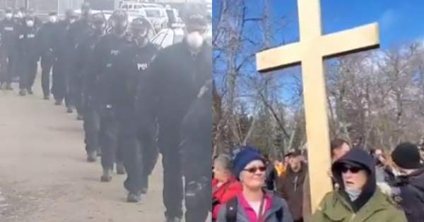 200 Tyrannical Agents Of The Canadian State Surround Church Building - Christians Should Outnumber & Surround Them! (Video) » Sons of Liberty Media