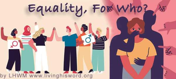 H.R.5 - Equality Act. How will this effect you? | Living His Word