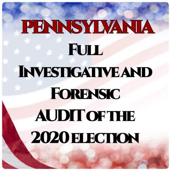 Audit the Vote in PA - Audit the ballots in our voting and election process