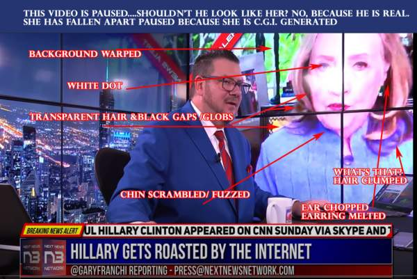 C.G.I. Video: SHE'S BACK…IN ANOTHER FORM – WE JUST CAN'T GET RID OF HILLARY.
