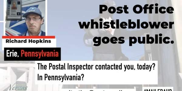 USPS Whistleblower Goes Public, Confirms Investigation Into MAJOR Voter Fraud - The GOP Times