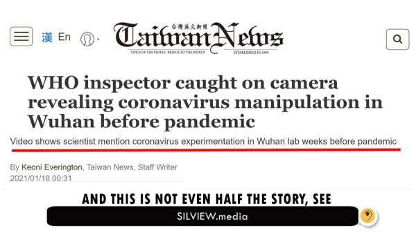 """Triple-bombshell on #Wuhan: #Fauci, #WHO and #CCP involved in gain-of-function research just prior to """"pandemic"""" – SILVIEW.media"""
