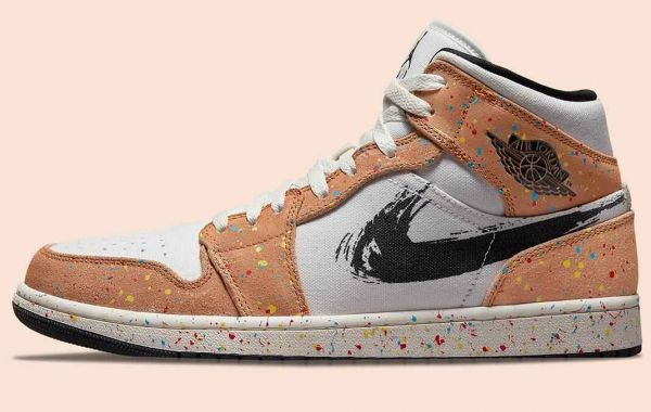 Latest Air Jordan 1 Mid Is Covered In Paint Splatter And Streaks