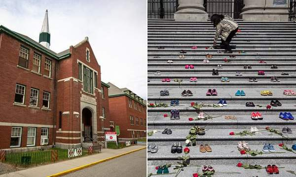 Remains of 215 children found at former indigenous school site in Canada   Daily Mail Online