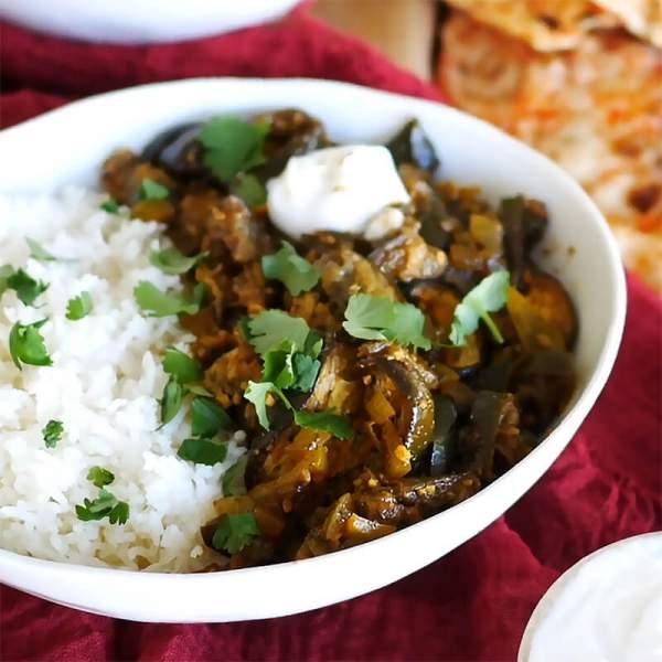 Eggplant Curry (Brinjal/Aubergine) | EveryVeganRecipe.com - 100% Plant-Based Recipes for All People