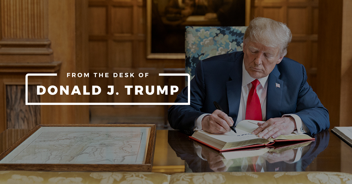 From the Desk of Donald J. Trump   Donald J. Trump