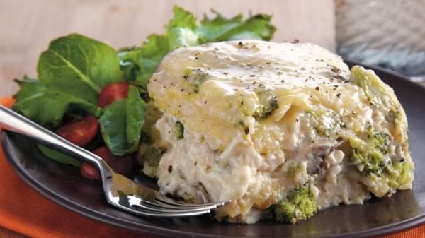 Slow-Cooker Chicken Broccoli Lasagna Recipe