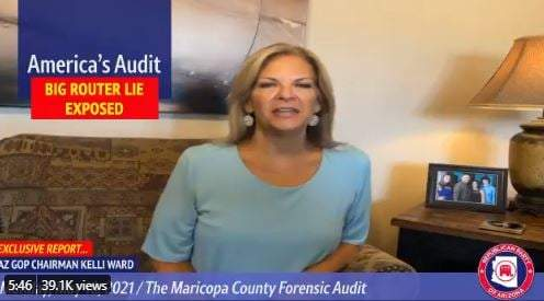 GOP Chair Dr. Kelli Ward: If Maricopa County Election Routers Were Shared with Law Enforcement the Election Could Not Be Certified (VIDEO)