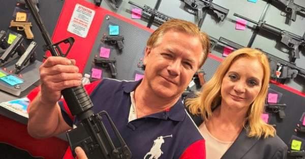 Mark McCloskey Posts Photos Holding New AR-15