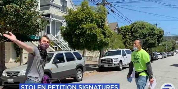 Woke culture warrior caught red-handed stealing signed petitions aimed at recalling leftist San Francisco school board members - TheBlaze