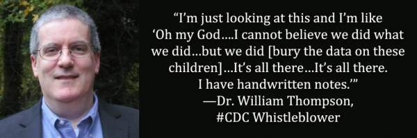 CDC Senior Scientist and Whistleblower: 'We trashed data showing vaccine-autism link
