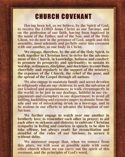 Meet Me At Calvary: Church Covenant: History and Scriptural Foundation
