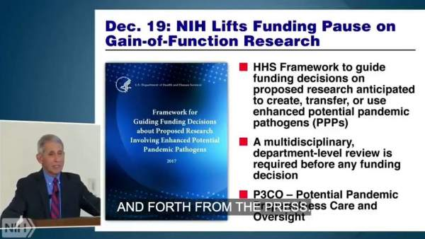 LIAR FAUCI BUSTED: 2018 Video Shows Dr. Fauci REINSTATING Gain-of-Function Research at NIH - Defending Its Use