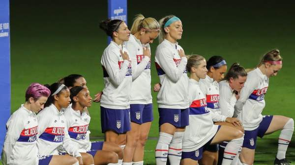 US Women's Soccer Team takes a knee, goes on to lose 3-0 in Olympic opener   The Post Millennial