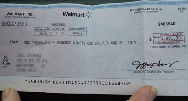 WARNING! Take A Look At Your Mail Today And IF You Got A Check From Walmart, It Means…