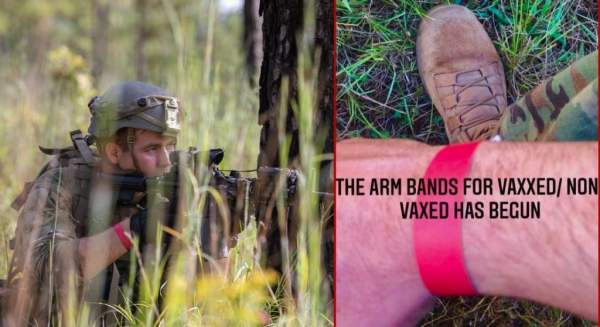 Exclusive: Military Troops Now Report Being Forced to Wear 'Arm Bands' to Prove Vaccine Status - Becker News