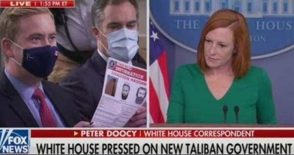 """BOOM! Watch As Doocy DRAGS Biden Hack Psaki Across The Floor On Taliban- """"Their Interior Minister Has A FBI Wanted Poster. He's Got..."""