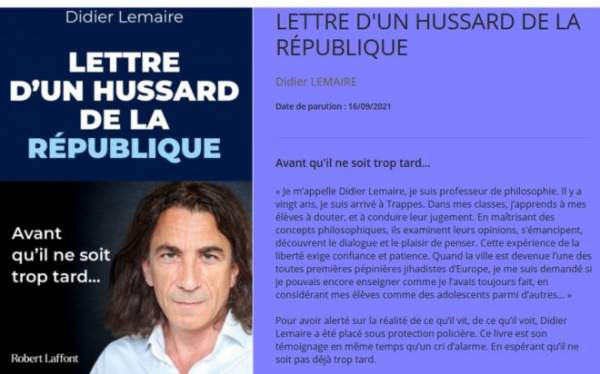 The French teacher Didier Lemaire has written a book about the conditions in the town of Trappes, which is ruled by Islamists – Allah's Willing Executioners