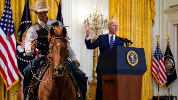 Horse-Mounted Aides With Whips Chase Away Journalists Trying To Ask Biden Questions | The Babylon Bee